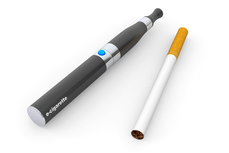 purported: Big Electronic Cigarette on a white background