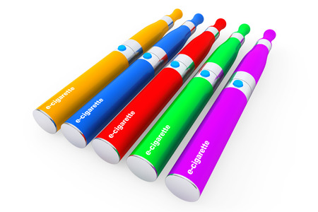 purported: Multicolour Electronic Cigarettes on a white background