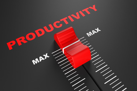 Max Productivity Value Mixer Slider extreme closeup Stock Photo
