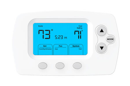 thermostat: Modern Programming Thermostat on a white background