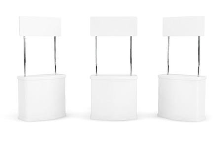 Blank Promotion Stands on a white background 版權商用圖片 - 35982559