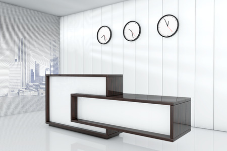 superficie: Espacio de oficina vac�o como 3d recepci�n representaci�n interior