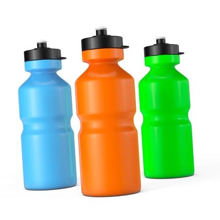 bottle: Multicolour Sport Plastic Water Bottles on a white background