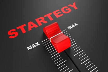 max: Max Strategy Value Mixer Slider extreme closeup Stock Photo