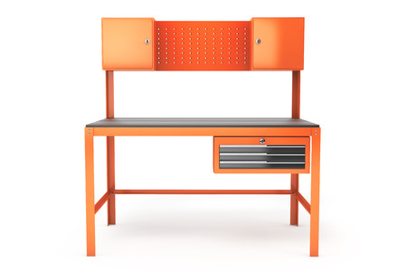 mesure: Metal Work Bench on a white background