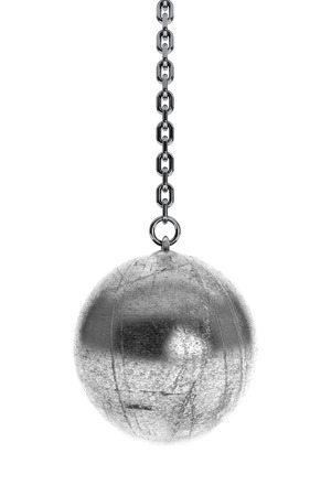 Closeup Wrecking Ball on a white background photo