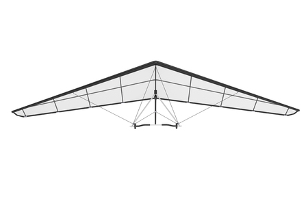 diagonals: Extreme Closeup Hang Gliding on a white background Stock Photo