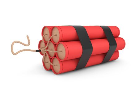 Stack of Red Dynamite on a white background
