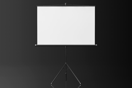 projection: Blank Projection Screen on a black background