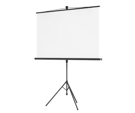 projection: Blank Projection Screen on a white background
