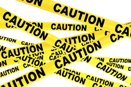 Caution Yellow Tape Strips on a white background 版權商用圖片 - 40571205