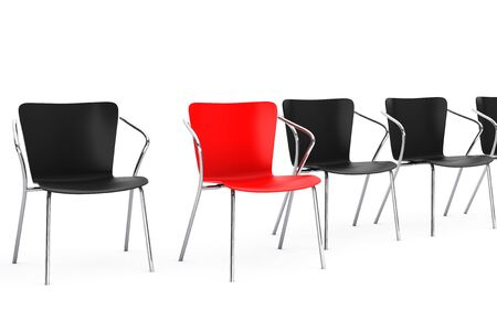 a chair: Boss Chair Between other chairs on a white background. 3d rendering