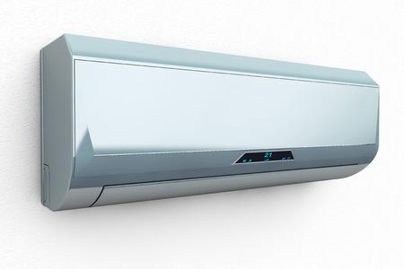 白い背景に近代的なエアコン