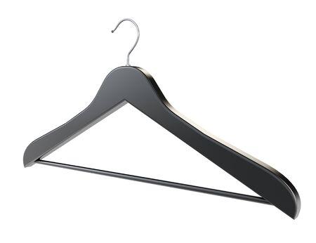 bois �b�ne: Ebony Coat Hanger sur un fond blanc