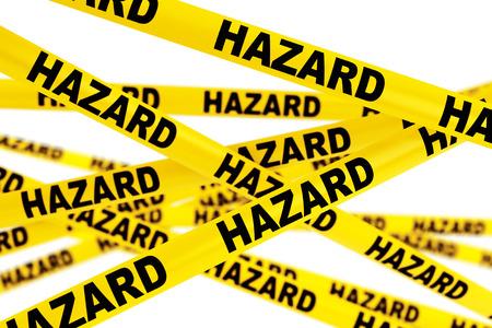 hazard tape: Hazard Yellow Tape Strips on a white background