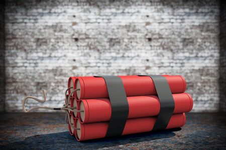 dynamite: Stack of Red Dynamite on a grunge background Stock Photo