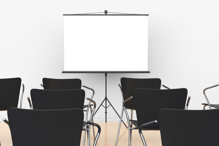 projection: Projection Screen and Chairs in office