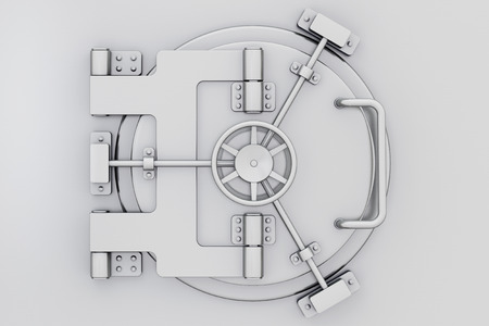 Metallic bankkluis deur aan extreme close-up