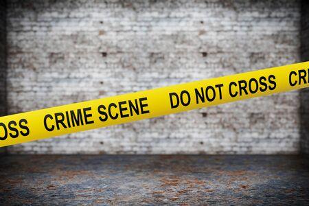 csi: Crime Scene Yellow Tape on grunge background