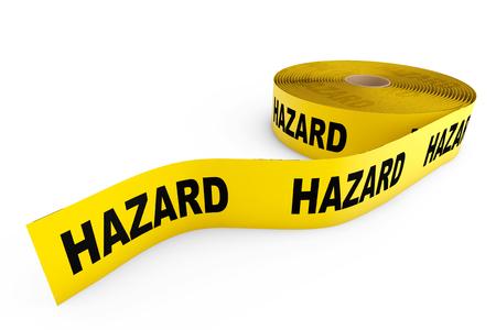 hazard tape: Hazard Yellow Tape on a white background