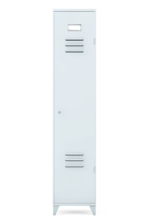 secondary colors: Grey Metal Locker on a white background