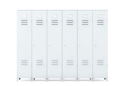 secondary colors: Grey Metal Lockers on a white background