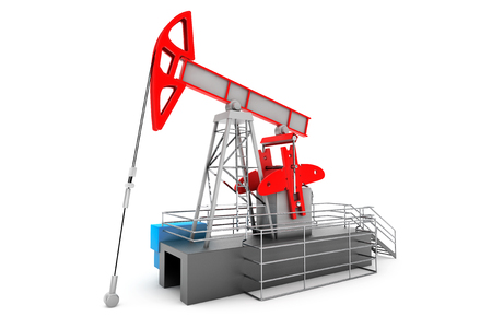 natural gas prices: Pump Jack Oil Crane on a white background