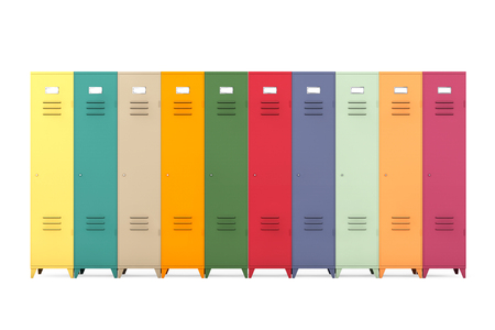 lockers: Multicolour Metal Lockers on a white background