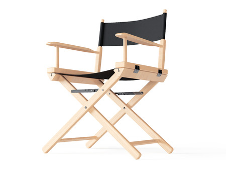 director's chair: Cinema Industry Concept. Directors Chair on a white background