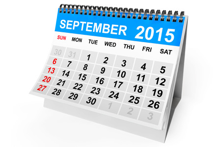 september calendar: 2015 year calendar. September calendar on a white background