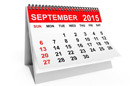 calendar september: 2015 year calendar. September calendar on a white background