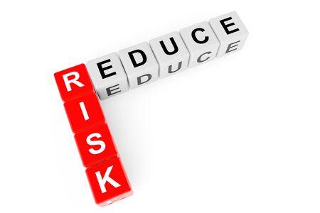 reduce risk: Reduce Risk Crossword on a white background