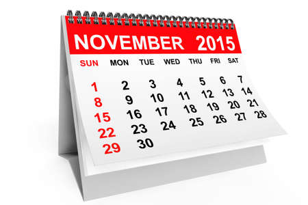 november calendar: 2015 year calendar. November calendar on a white background