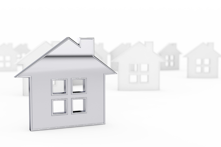 still: 3d Still Abstract House on a white background Stock Photo