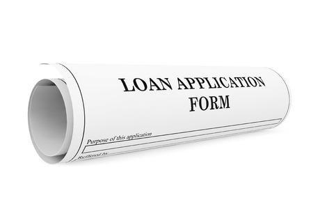 personal data privacy issues: Loan Application Form on a white background