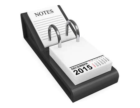 calendario diciembre: 2015 año calendario. Calendario de diciembre, sobre un fondo blanco Foto de archivo