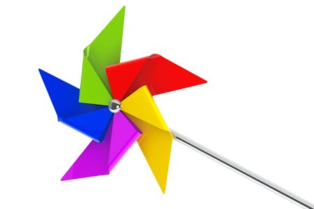 pinwheel toy: Colored Toy Pinwheel Windmill on a white background