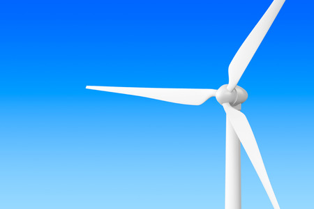 conservation: Wind Turbine Windmill on a blue background Stock Photo