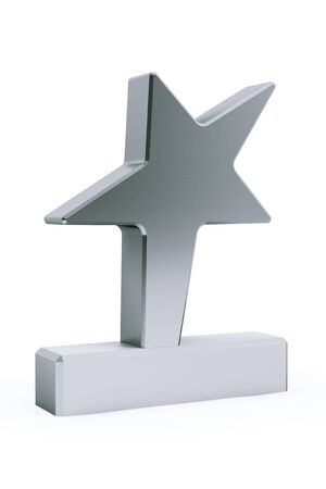 star award: Star Award Trophy on a white background