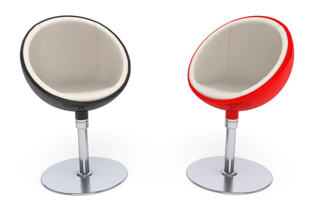 Modern Ball Chairs On A White Background Stock Photo   50519543