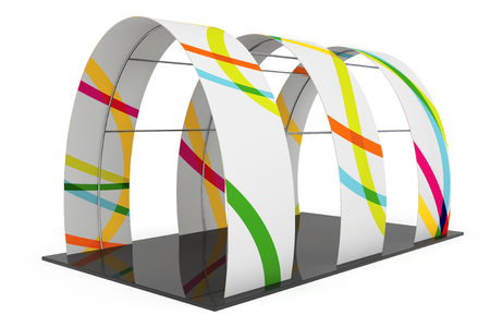 portables: Arc Promotion Stand on a white background