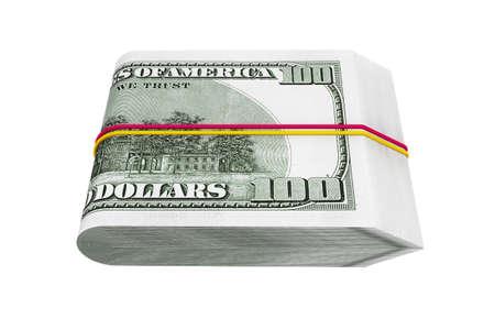 hundred: Pack of Hundred Dollars on a white background