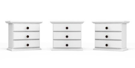 highboy: Miniature White Commodes on a white background