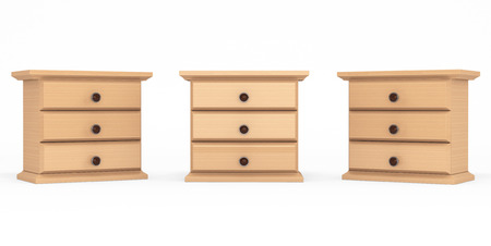 highboy: Miniature Wooden Commodes on a white background