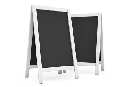 bordering: Blank Menu Blackboards Outdoor Display on a white background