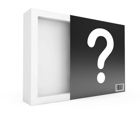 up code: Empty Box with Question Mark on a white background