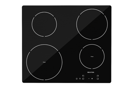 cooktop: Induction cooktop stove on a white background Stock Photo