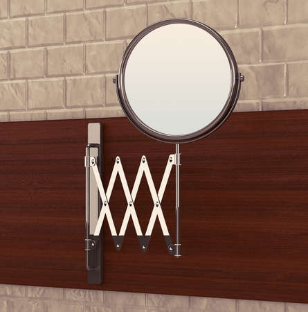penumbra: Sliding Chrome Makeup Mirror on a bathroom wall