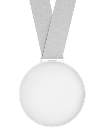 accomplishments: Blank Medal with Ribbon on a white background