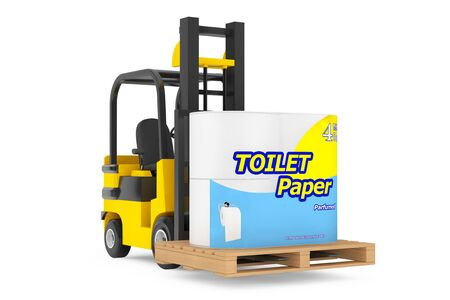Loader Lift Toilet Paper Package on a white background